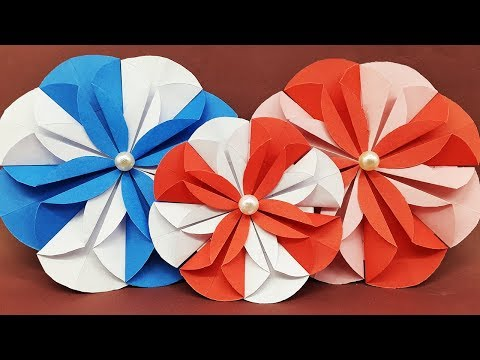 DIY Paper Dahlia Tutorial | Paper Flower Assembly for Christmas Cards | Easy Cute flower