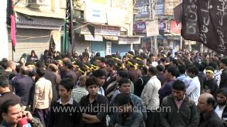 Shia Muslims gather around mosque for the rituals of Muharram