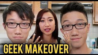 ASIAN NERD MAKEOVER ft. LeendaDProductions | Fung Bros