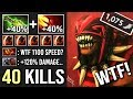 WTF SPEED +120% Damage 1k Ms Bloodseeker Mid 1 Shot Kill Most Epic Build WTF Dota 2