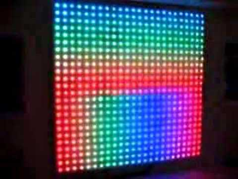 Lite Brite on wall; 2 rows installed - YouTube