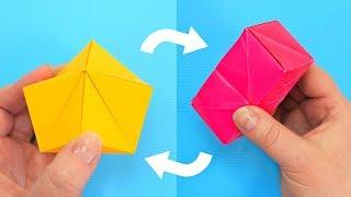 Антистресс Трансформер за 1 минуту | Оригами игрушка из бумаги
