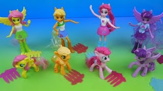 2015 MY LITTLE PONY EQUESTRIA GIRLS SET OF 8 McDONALD'S HAPPY MEAL KID'S TOY'S VIDEO REVIEW