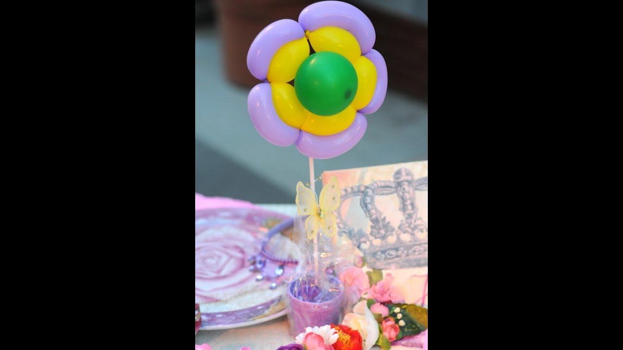 Flores con globos centros de mesa youtube - Centros de mesa con flores ...