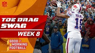 Top Toe-Drag Swag Catches from Week 8 😎 🏈  | Good Morning Football | NFL Highlights