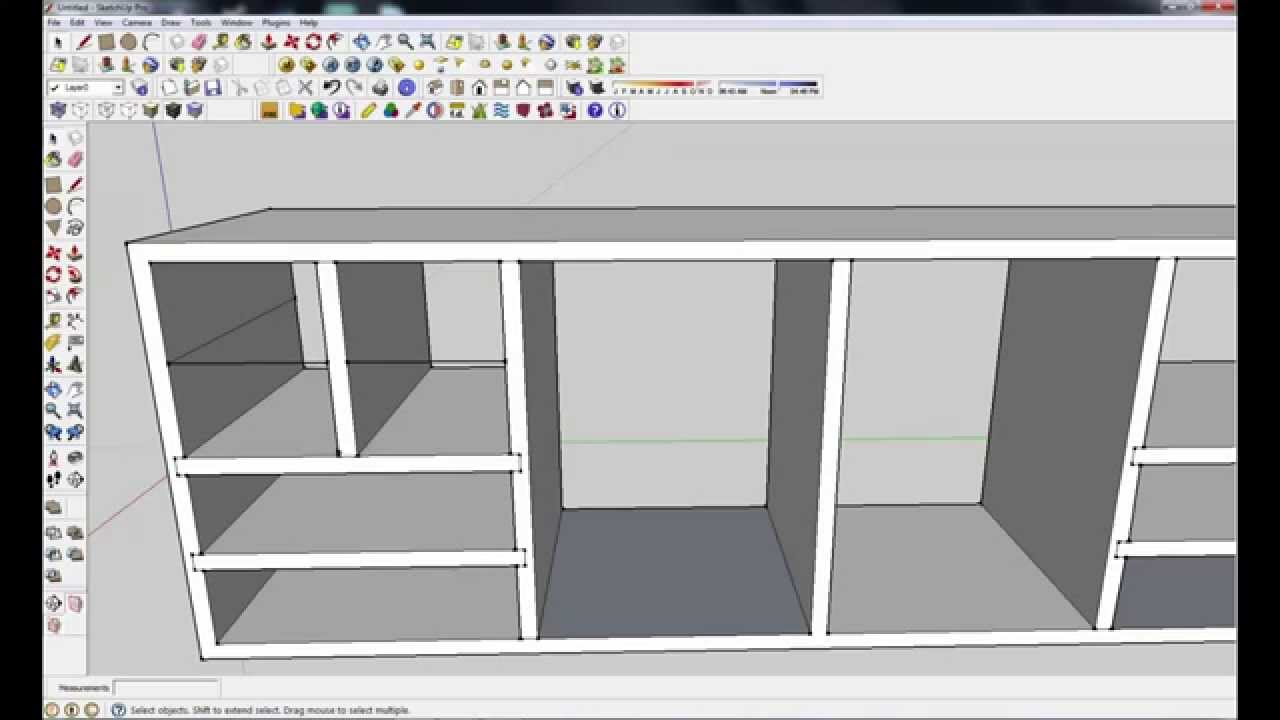 Furniture design in google sketchup 8, part 1 - YouTube