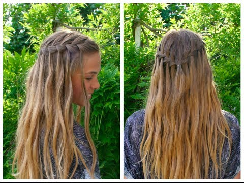 DIY waterfall braid tutorial – Hair And Nails Inspiration