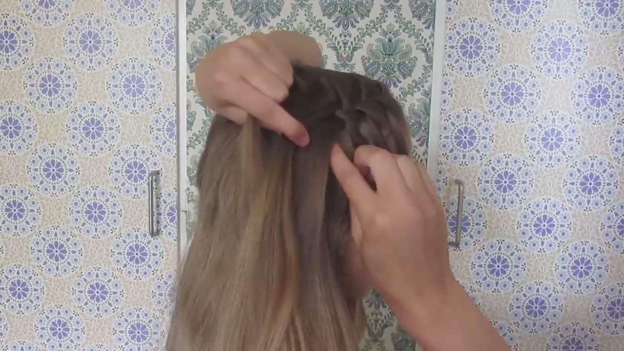 Diy Waterfall Braid Tutorial Hairandnailsinspiration Youtube