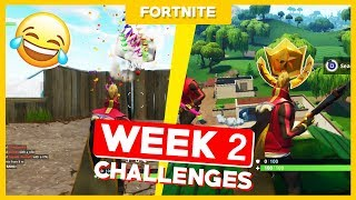 ALL WEEK 2 CHALLENGES + FREE ANIMAL! - Fortnite