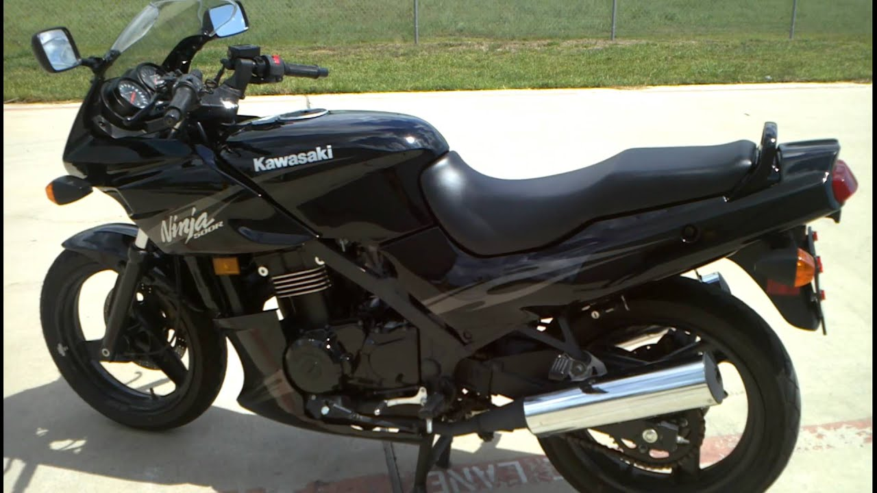 Review 2009 Kawasaki 500r 500 Ninja Black Youtube