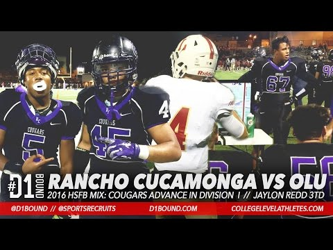 Rancho Cucamonga Wins 27-7 over Orange Lutheran: 2016 HSFB Division I Playoffs Highlights