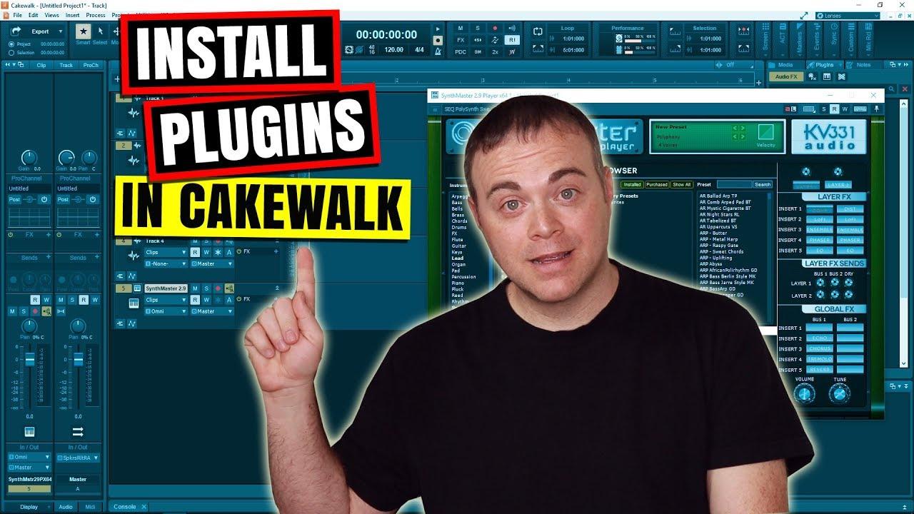 Cakewalk by Bandlab Tutorial - How to install VST Plugins in Cakewalk