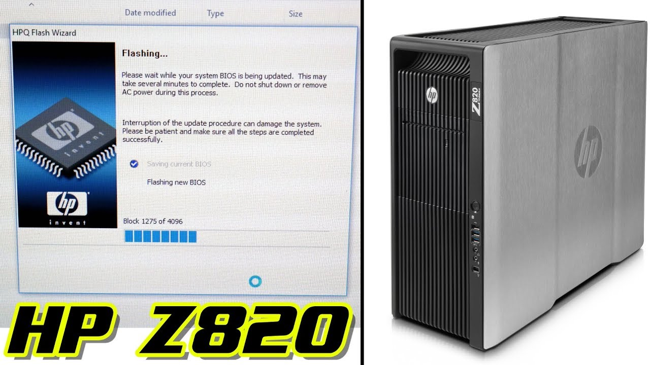 HP Z820 | HOW TO UPDATE THE BIOS [2018]