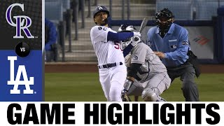 Rockies vs. Dodgers Game Highlights (4/13/21) | MLB Highlights