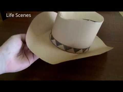 How to Make a Paper Cowboy Hat