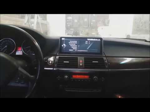 """DIY How To install 10.25"""" Android Navigation GPS Backup camera 2008 BMW E70 X5 CCC Connection"""
