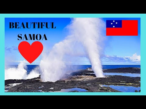 SAMOA, the spectacular volcanic BLOWHOLES, island of SAVAI