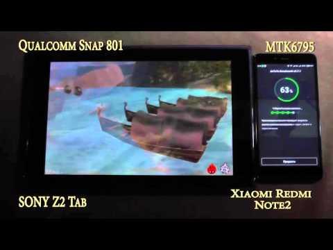 Тестирование MTK6795(Helio X10) vs Qualcomm 801 Snapdragon в синтетических тестах
