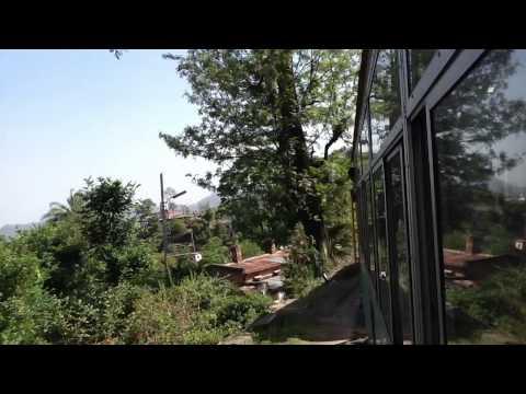 On board the Kalka - Shimla narrow gauge railway,  Himachal Pradesh, Northern India. 17 April 2013