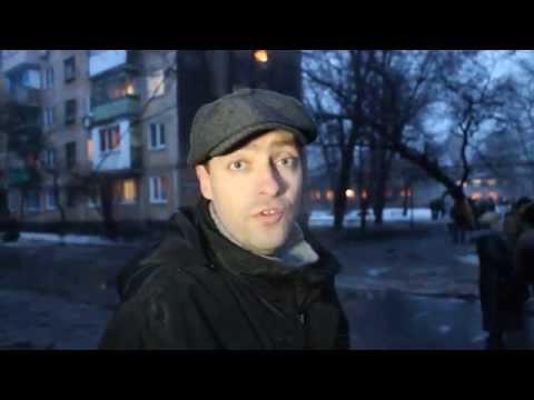 18+ Ukraine, Donetsk: Shelling Kills 2 Civilians in Kirovsky Dist. 21.01.2015 (English Subtitles)