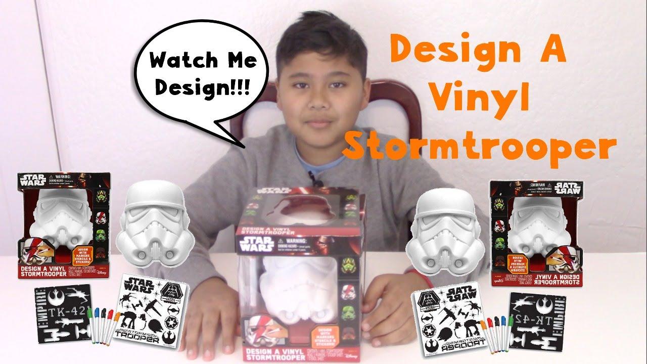 Star Wars Design A Vinyl Stormtrooper 2 Youtube