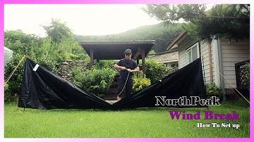 NorthPeak WindBreak ㅣ노스피크 윈드브레이크 설치하기 ㅣ 이거보면 할 수 있기 없긔?