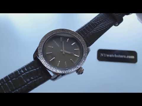Women's Diesel Kray Kray Leather Strap Glitz Watch DZ5436