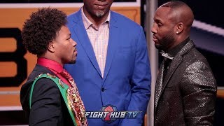 SHAWN PORTER VS YORDENIS UGAS - FULL FACE OFF VIDEO -LOS ANGELES