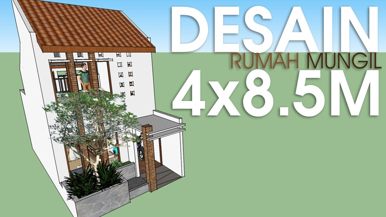 Model Rumah Minimalis Ukuran 4x10  Wallpaper Dinding