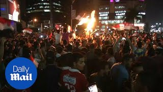 Jubilation on streets of Cairo as Egypt qualify for World Cup - Daily Mail