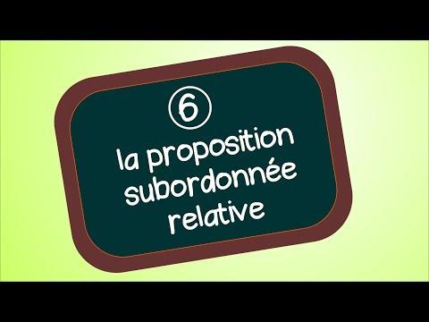 La proposition subordonnée relative