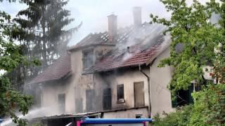 Brand in zukuenftiger Asylbewerber Unterkunft in Weissach im Tal