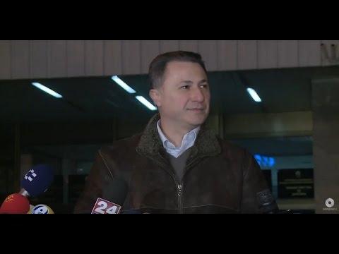 Обраќање на Никола Груевски пред седиштето на ДИК