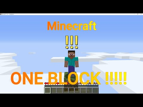 Minecraft one block