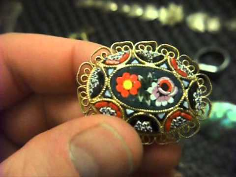 Very large antique haul   part 2   silver belly dancer & awesome gold signet ring