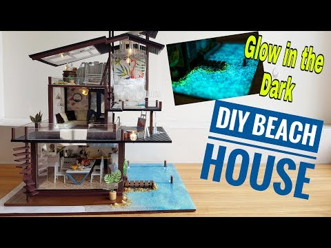 DIY Glow in the Dark Miniature Beach House