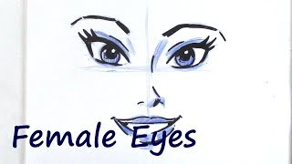 How to Draw Eyes of Women and Men