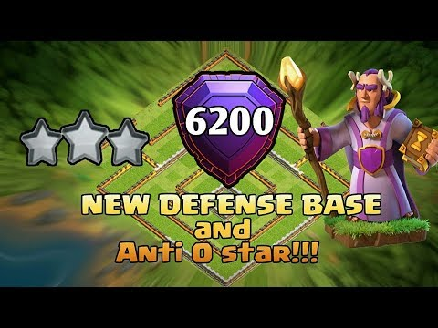 BEST TH11 NEW STRONG DEFENSIVE LEGEND BASE 2018 REPLAY(6200 TROPHY BASE)ANTI 0 STAR/ANTI EVERYTHING