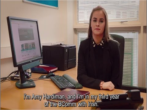 Amy Hardiman - Mac Léinn - B.Comm (Gaeilge)  Ollscoil Na Héireann, Gaillimh