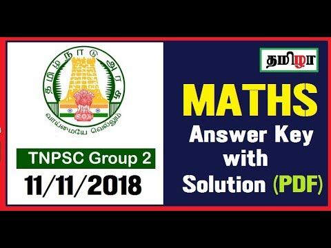 TNPSC Group 2 Maths Answer Key with Solution (PDF