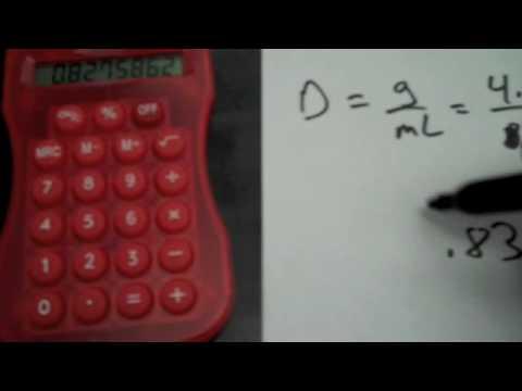 Density, volume and mass