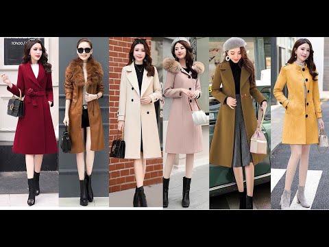 Top 20 mẫu Áo Khoác Dạ Nữ Hàn Quốc kiểu cổ vest dáng dài, Áo khoác dạ Hàn Quốc 2 lớp đẹp nhất 2020