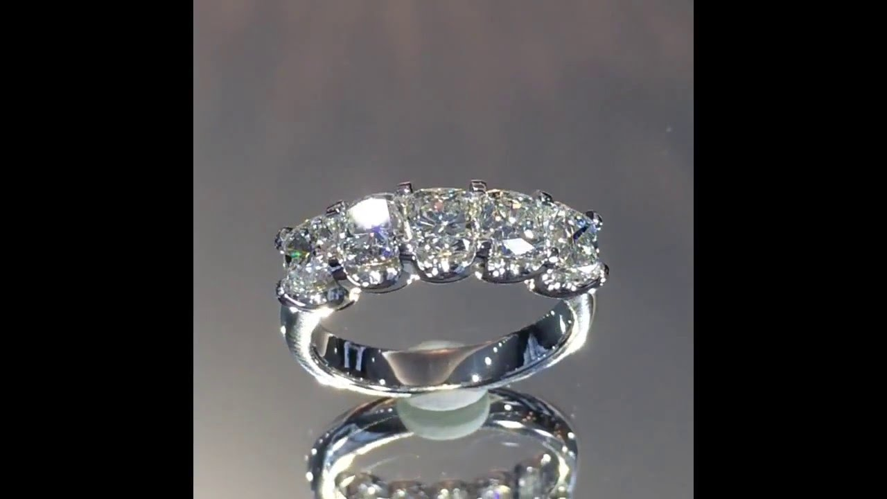 2.70 Ct Cushion Cut Diamond Wedding Band
