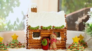 How to Make a Gingerbread House Log Cabin (No Kit Required) - Gemmas Bigger Bolder Baking 47