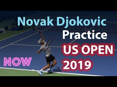 Novak Djokovic Practicing At US Open 2019 | Arthur Ashe Stadium