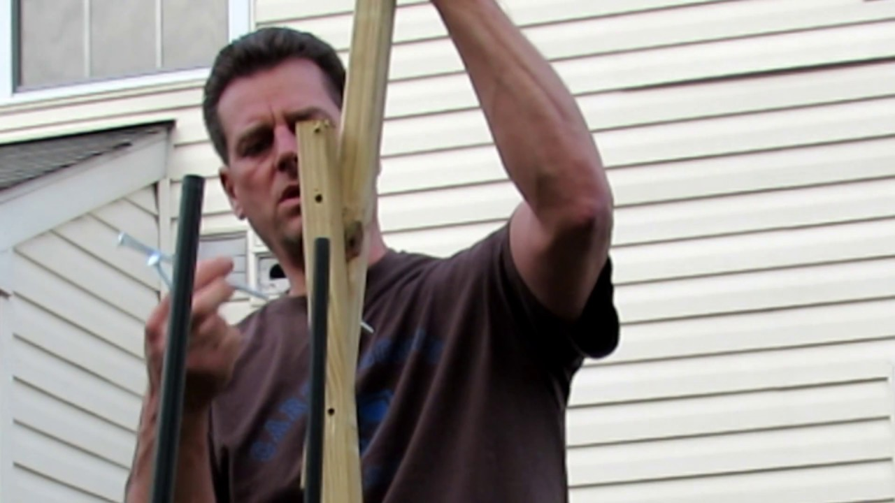 How to Build a 12-14 Foot Collapsible Pole For Hops, Cucumbers ...