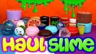 Haul de slime - Todos los slimes que hemos comprado - Con Eva y Lina