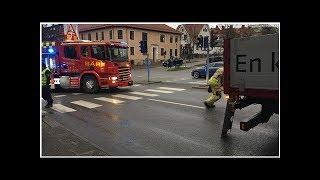 Person påkörd av lastbil – allvarligt skadad