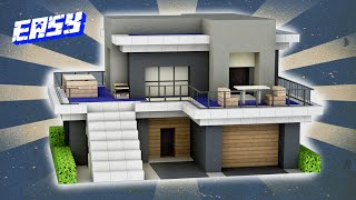 Easy Minecraft: Small Moḋern House Tutorial - How to Build a House in Minecraft #42