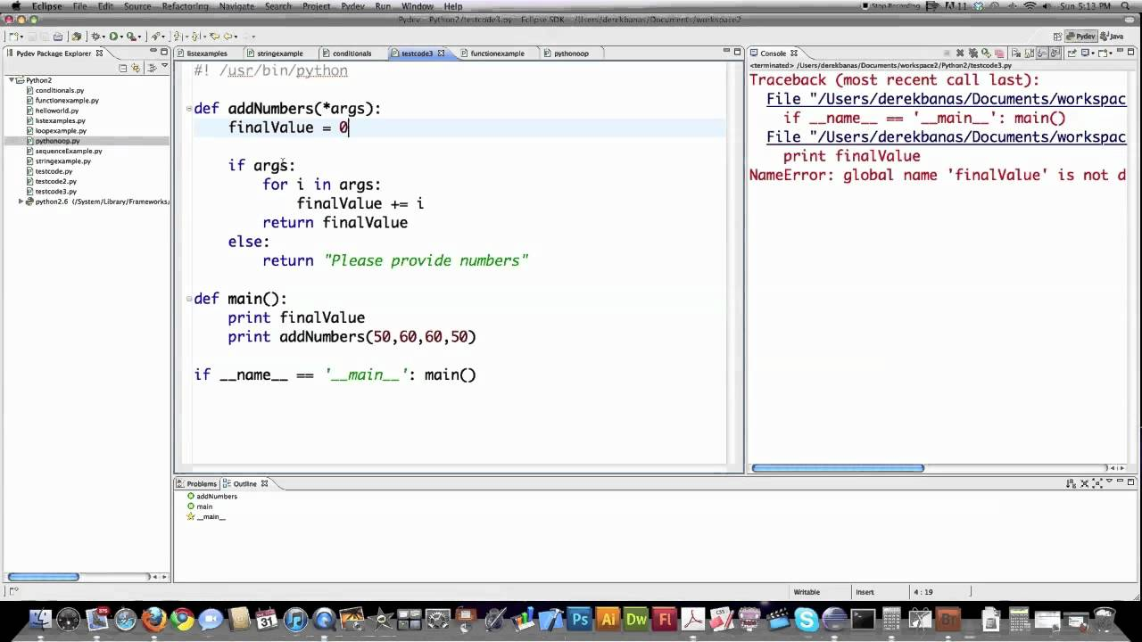 main function in python